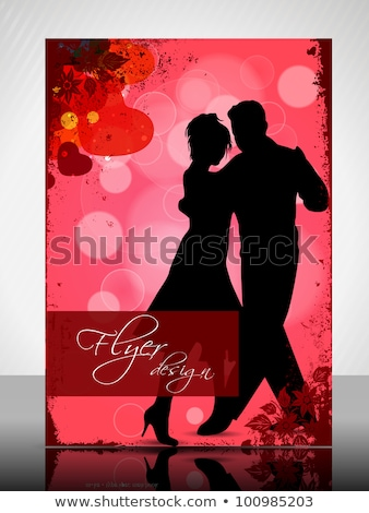 dancing couples with background of hearts Stock photo © illustrart