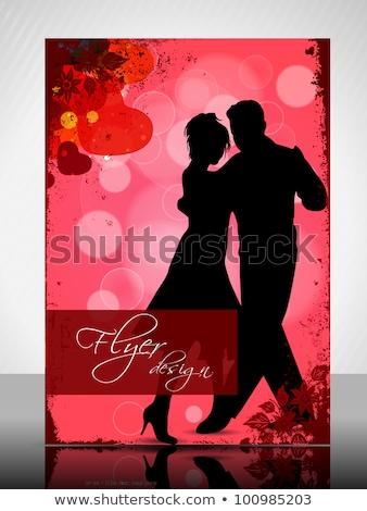 star · siluetleri · dansçı · sahne · konser · hediye - stok fotoğraf © illustrart