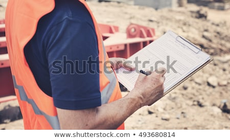 Safety inspector with clipboard Stock photo © photography33