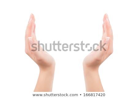 mains · idées · sphère · signe · nuage - photo stock © kbuntu