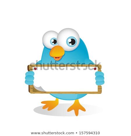 Blue Bird Sign Stock photo © theblueplanet