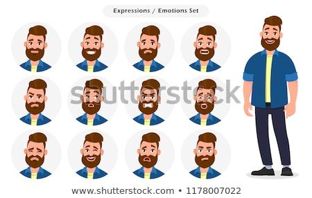 Colagem frustrado homem escritório gritar copo Foto stock © photography33