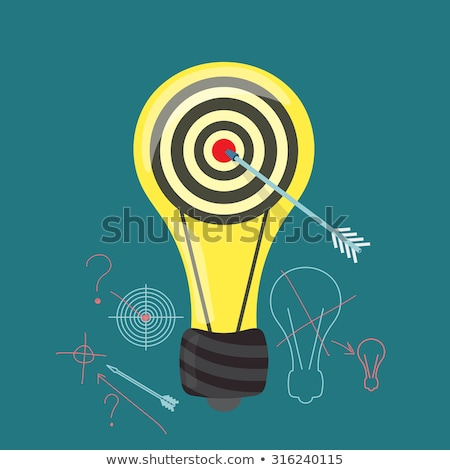 Stockfoto: Question Mark On Dart Board Shooting For Answers