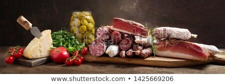 Kaas vlees tomaten witte diner Rood Stockfoto © alexandkz