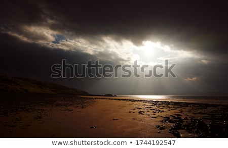 scottish scenery with dramatic clouds stock photo © prill