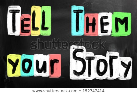 what is your story handwritten with white chalk on a blackboar stock photo © nenovbrothers