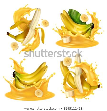 Geïsoleerd banaan sap vruchten dieet schudden Stockfoto © M-studio