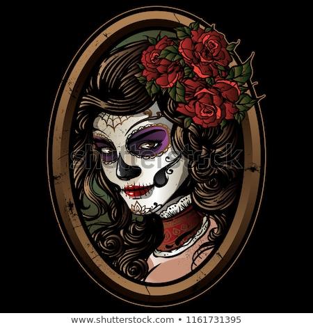 Photo stock: Vector Illustration Of Sugar Skull Girl
