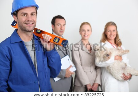 Сток-фото: Four Workers In Different Trades