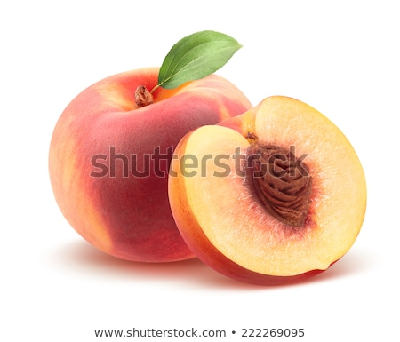 Round Peaches on White Background stock photo © HaywireMedia