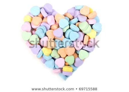 Valentine mozaik şeker kalp sevmek soyut Stok fotoğraf © saje