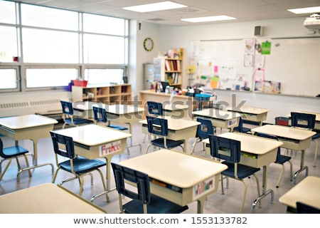 Stok fotoğraf: Empty Classroom With Chair And Board