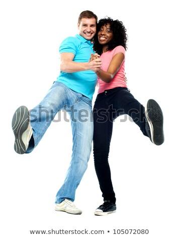 tánc · teljes · alakos · pár · előad · szamba · boldog - stock fotó © stockyimages