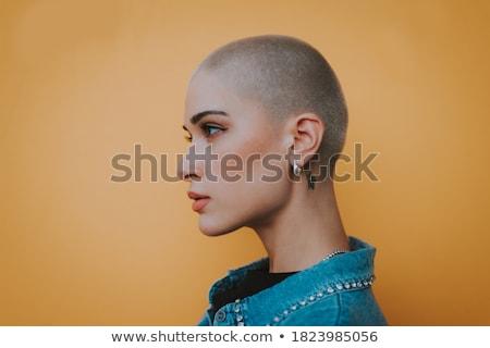 łysy punk dżinsy shirt człowiek smutne Zdjęcia stock © pzaxe