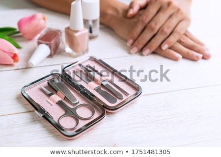 pedicure · ferramentas · unha · polonês · branco · beleza - foto stock © imaster