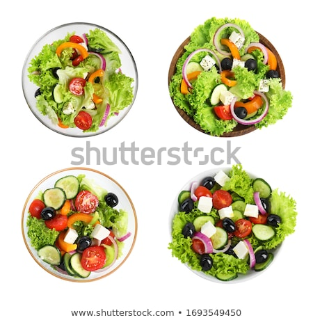 Stock photo: Collection Of Isolated Salads
