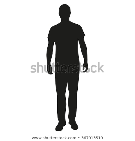 masculino · pé · isolado · branco · corpo · homens - foto stock © randallreedphoto