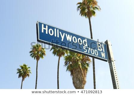 Hollywood teken Los Angeles Californië stad zonsondergang Stockfoto © cboswell