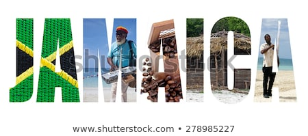 Jamaica · bélyeg · grunge · pecsét · fehér · város - stock fotó © perysty