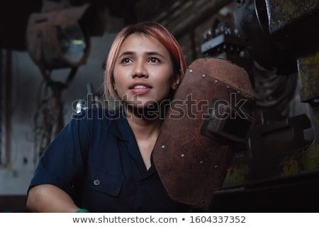 Aprendiz menina mulher jovem mulher construção trabalhar Foto stock © Saphira