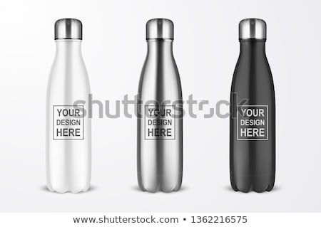 establecer · botellas · vino · champán · aislado · blanco - foto stock © kitch