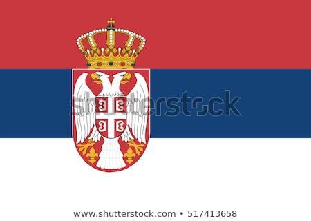 Sérvia bandeira bandeiras Foto stock © idesign