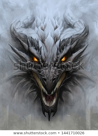 дракон голову храма смола Венгрия Сток-фото © jakatics