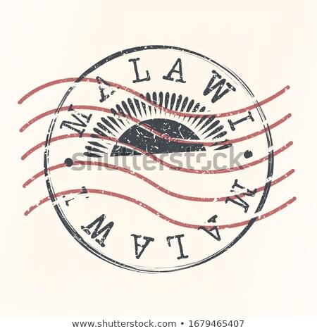 Mail Malawi afbeelding stempel kaart vlag Stockfoto © perysty