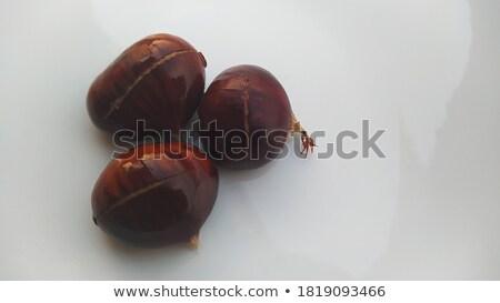 Three chestnuts stock photo © Antonio-S