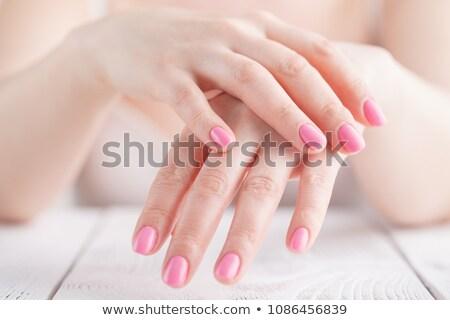 manikűr · nő · ujjak · pihenés · fürdő · szalon - stock fotó © vlad_star