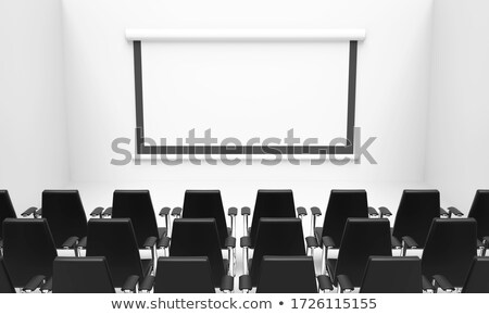 Chairs standing in line at conference room Stock photo © vetdoctor