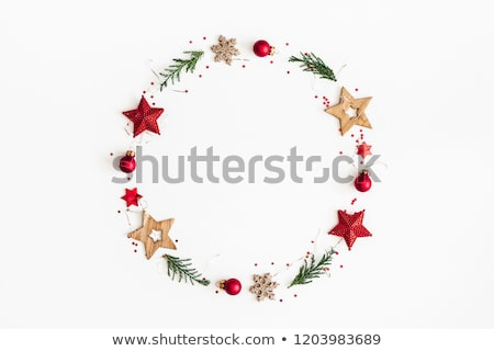 Festive Red and Green Wreath Stock photo © LynneAlbright