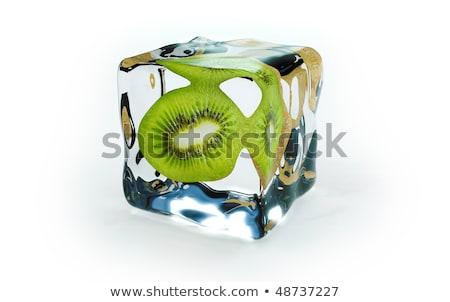 ice · cube · kiwi · isolado · branco · abstrato · luz - foto stock © Givaga