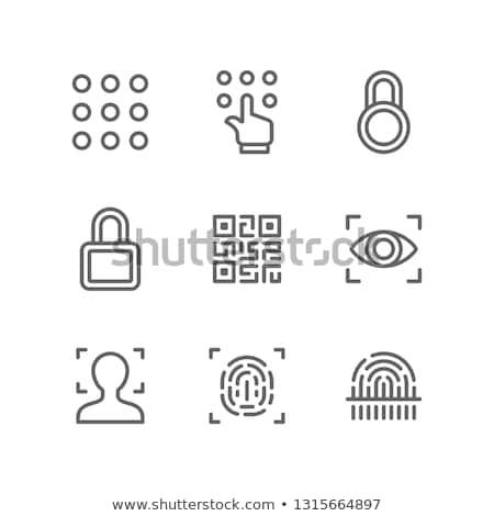 Spyware olho código binário verde branco parede Foto stock © Balefire9
