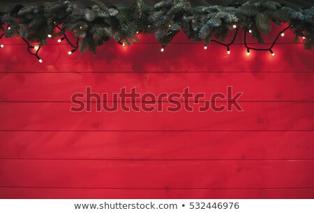 Foto stock: Photos Frames On Rustic Red Wood Background