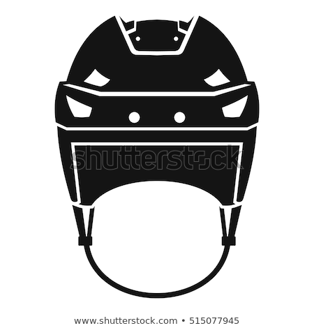 Hockey casco aislado blanco equipo cabeza Foto stock © kitch