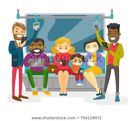 Mulher transporte público tempo energia vida informação Foto stock © photography33