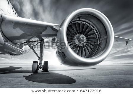 турбина Jet двигатель небольшой металл самолет Сток-фото © premiere