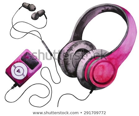 Rosa reproductor mp3 vector Cartoon música auriculares Foto stock © pcanzo
