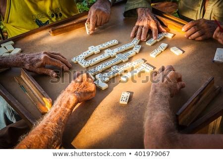 playing domino on cuba stock photo © haraldmuc