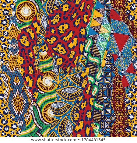 seamless colorful african animals pattern stock photo © huhulin