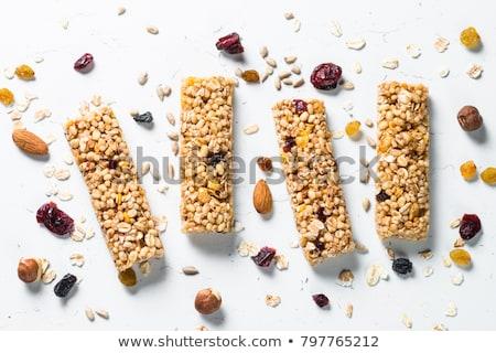 müsli · bar · granola · çikolata · beyaz · gıda - stok fotoğraf © masha