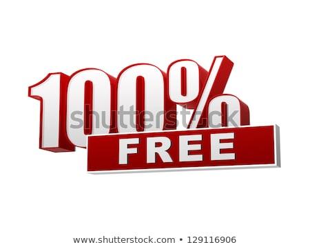 100 percentages gratis Rood witte banner Stockfoto © marinini