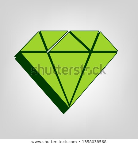 Karate pictogram on green background stock photo © seiksoon