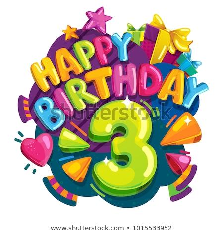 happy birthday 3 stock photo © marinini