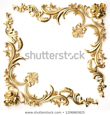 background frame with jewels of gold ornaments Stock photo © yurkina
