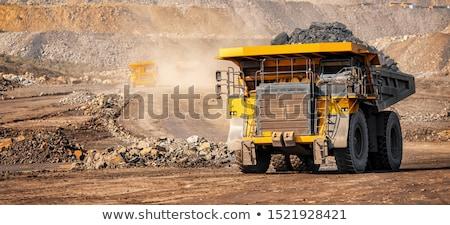 Mina carbón minería abierto humo fábrica Foto stock © Nneirda