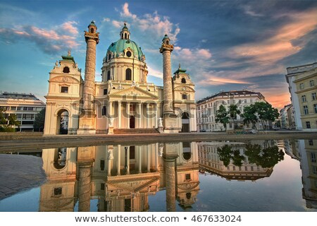 Vienne Autriche matin sunrise ciel eau Photo stock © AndreyKr