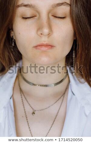 Glamorous woman having her eyes closed Stock photo © wavebreak_media