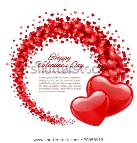 pembe · iki · kalpler · sevgililer · günü · kalp · dizayn - stok fotoğraf © larser
